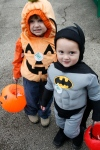 Batman and pumpkin